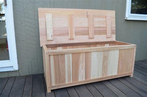 outdoor cedar storage box plans plans free