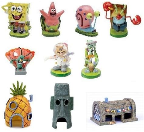 spongebob fish tank accessories spongebob aquarium decorations set 10pc pets bond