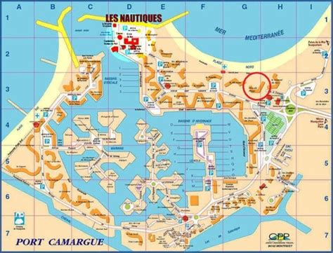 escale plage port camargue acces