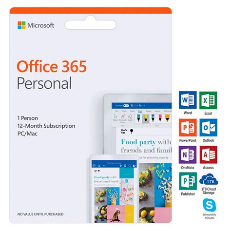 Microsoft Office 365 Personal 1 Device 12 Months Card Ebay