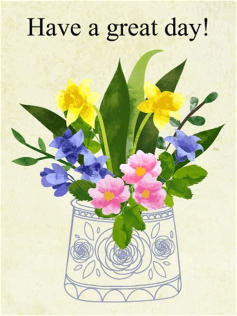 flower great day card birthday greeting cards  davia