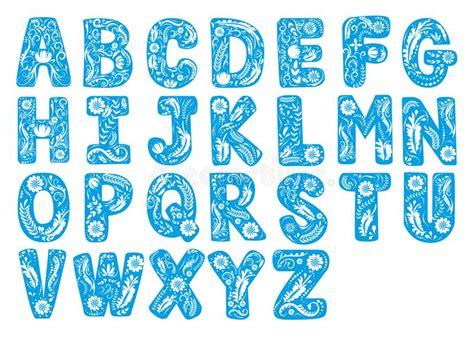 testo bello la fonte floreale lettere capitali dell alfabeto di