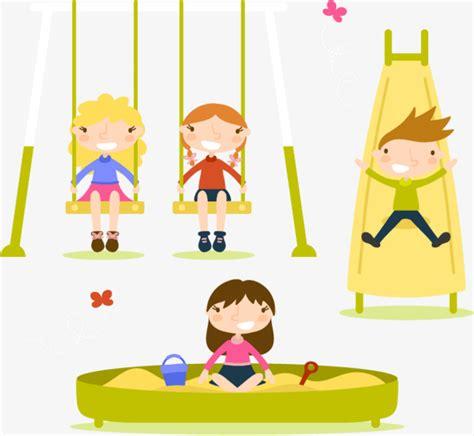 si鑒e balancoire quatre enfants qui jouaient jouer la balançoire les enfants png et vecteur pour téléchargement gratuit