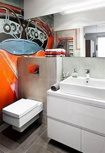 Aménager Salle De Bain : design interieur am nager salle bain moderne id es conseils papier peint cuvette suspendue ~ Melissatoandfro.com Idées de Décoration