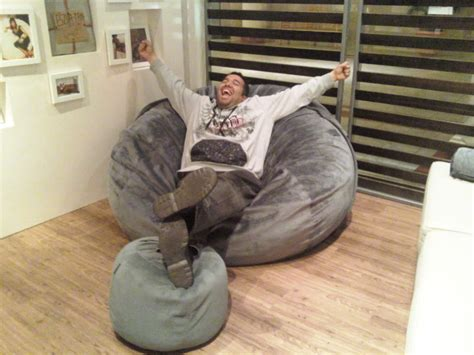 Lovesac Supersac by A Happy In His New Supersac In Seawater Rhinoplush Yelp