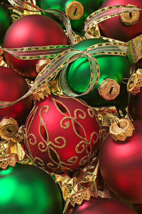 christmas ornaments traditional red   home decoration