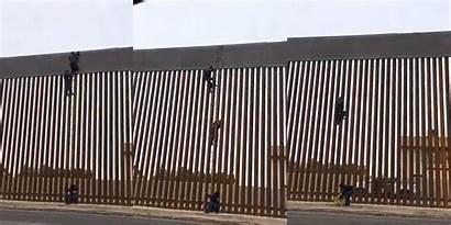 Trump Border Climbing Climb Mexico