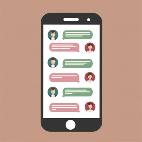 cell phone chat vector free