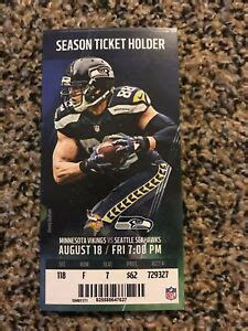 seattle seahawks  minnesota vikings ticket stub