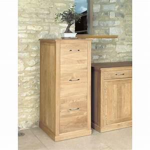 Mobel Oak Three Drawer Filing Cabinet Wooden Furniture Store