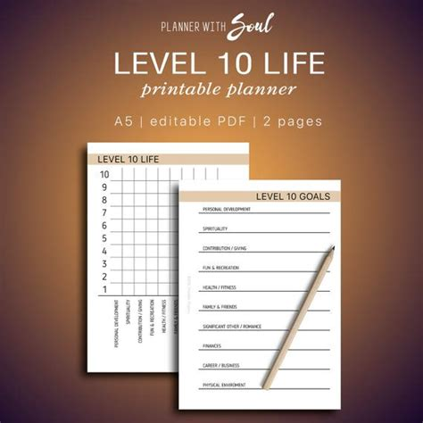 level  life printable editable balanced life