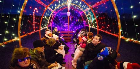 visit with santa and take a light show hayride with