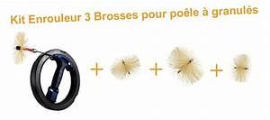 Kit Conduit Poele A Granule : kit mini enrouleur avec 3 brosses pour un prix mini ~ Edinachiropracticcenter.com Idées de Décoration