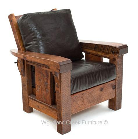 cabin recliner rustic chair lodge club chair lounge