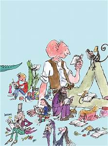 Roald Dahl - Characters Reading Art Print by Quentin Blake ...