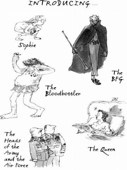 Bfg Characters Roald Dahl Queen Illustrations Books