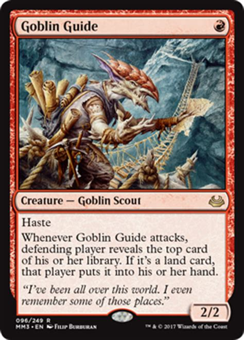 goblin commander deck 2017 goblin guide from modern masters 2017 spoiler