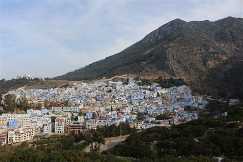 On top of the Rif Mountain in Chefchaouen, Morocco - March ...