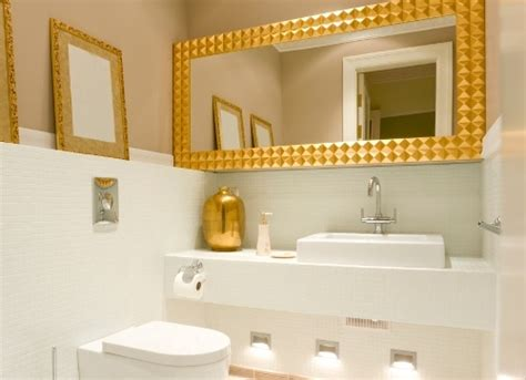 Gold And White Bathroom Ideas
