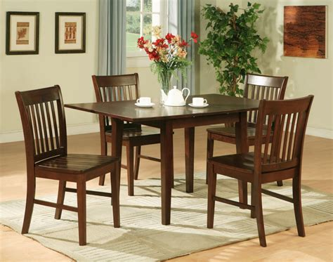 kitchen table and chairs set 5pc rectangular kitchen dinette table 4 chairs mahogany ebay