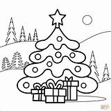 Coloring Tree Christmas Pages Printable Drawing Supercoloring Colorings Creative Under Books Characters Categories sketch template