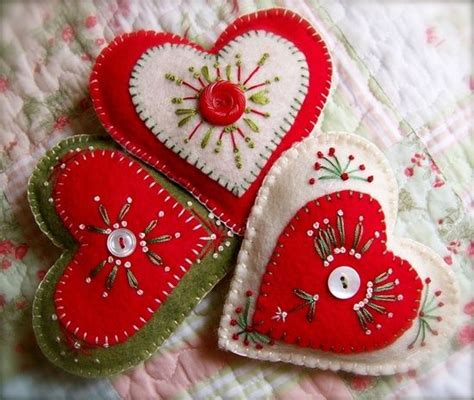 christmas felt crafts bing images hearts pinterest