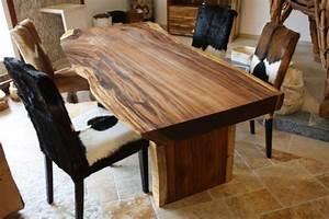 Massiver Baumstamm Esstisch MAMMUT 180cm Akazie Massivholz