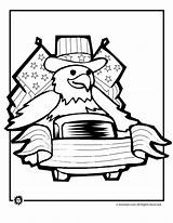 Coloring July 4th Parade Eagle Animal Printables sketch template