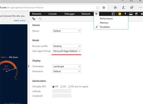 edge firefox user change chrome agents browsers tricks tips technology latest prosyscom settings access f12 developer key press using open