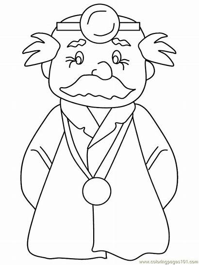 Coloring Pages Doctor Doctors Colouring Woman Surgeon