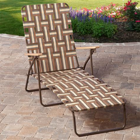 deluxe folding web chaise lounge outdoor chaise