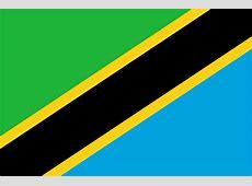 Tanzânia Bandeira Nacional países do Mundo