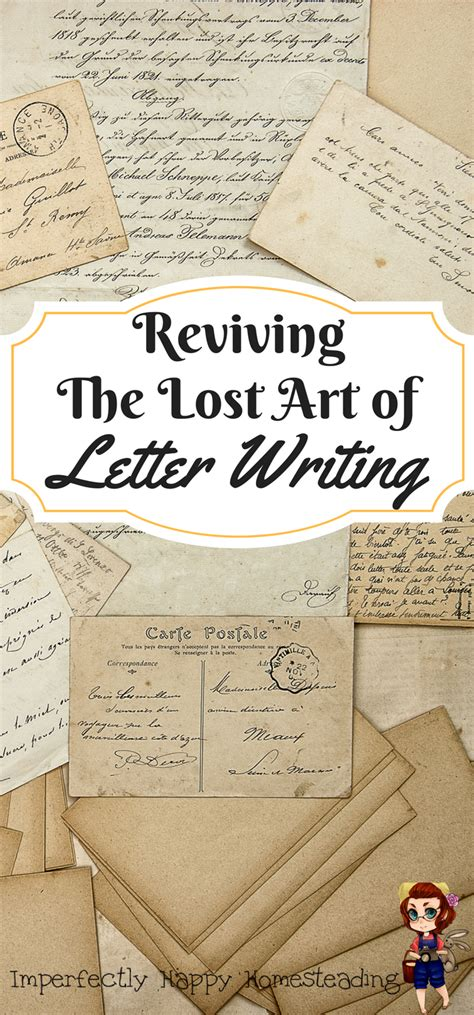 Lost Letter Writing by The Lost Of Letter Writing Quot Homesteading Quot Letter
