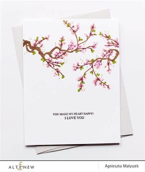 10 best cards cherry blossom one layer card using the cherry blossom tree st