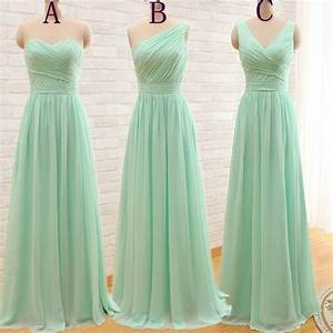 elegant cheap long mint green bridesmaid dresses 2016 With elegant wedding party dresses