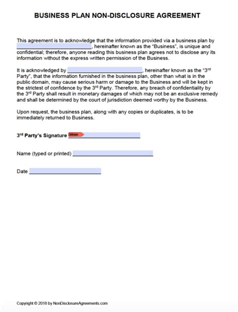 disclosure agreements templates samples
