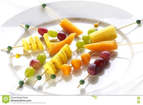 fruit canapes different sort of fruit canape stock image image 16693727
