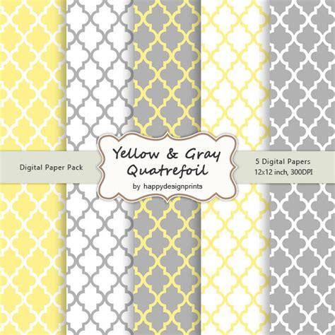quadrilobe gris jaune zelliges motif papier peint num 233 rique