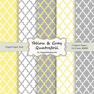 gelb grau vierpass marokkanische fliesen muster tapeten With balkon teppich mit tapeten in gelb
