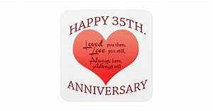 Happy 35th Anniversary Coaster Zazzle