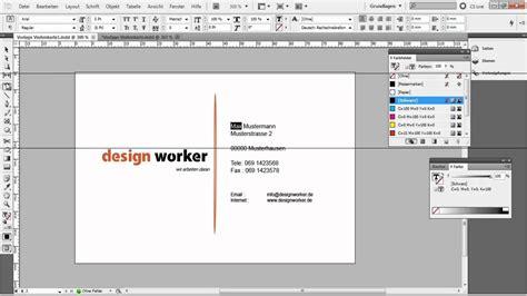 visitenkarte  indesign erstellen tutorialvorlage teil