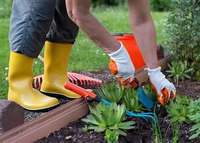 Working Garden Woman Gardening Shovel Chemicals Gloves