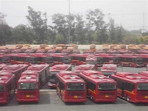 largest bus depot  asia  millenium depot  dtc delhi transport corporation youtube