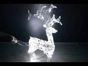 Led Weihnachtsbeleuchtung Außen : led figur rentier acryl kaltwei weihnachtsbeleuchtung au en youtube ~ Frokenaadalensverden.com Haus und Dekorationen