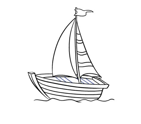 How To Draw A Water Boat by How To Draw A Boat In A Few Easy Steps Easy Drawing Guides