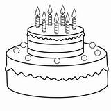 Cake Birthday Coloring Drawing Printable Colouring Draw Girlscoloring Afkomstig 24th Hats Heart sketch template