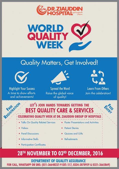 Celebrating Quality Week - Dr. Ziauddin Hospital