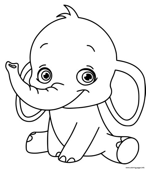 Coloring Pages For by Baby Elephant Coloring Pages Printable