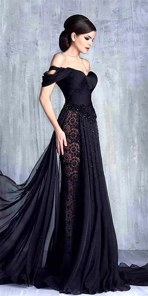 33 beautiful black wedding dresses that will strike your