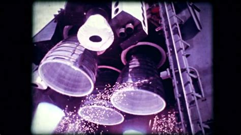 space shuttle main engine test high speed color